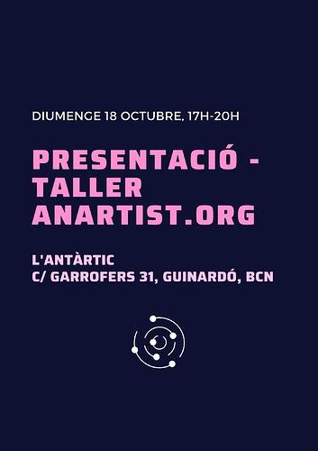 presentació - taller anartist.org